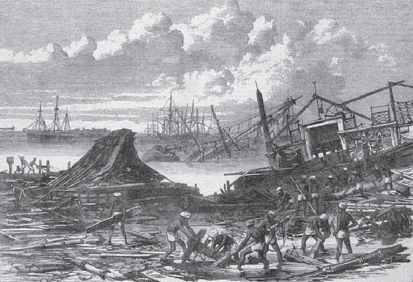 The devastation of the Calcutta Cyclone