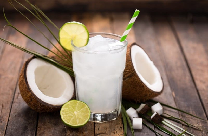 healthy yoga diet coconut water
