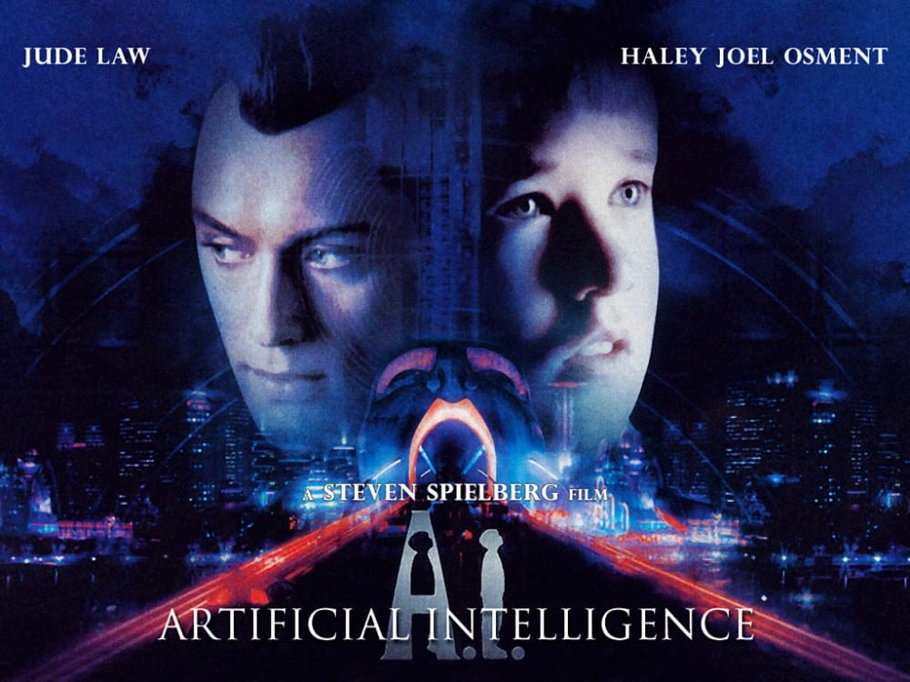 Produced in the early 2000s, AI is one of the steven spielberg's sci-fi films