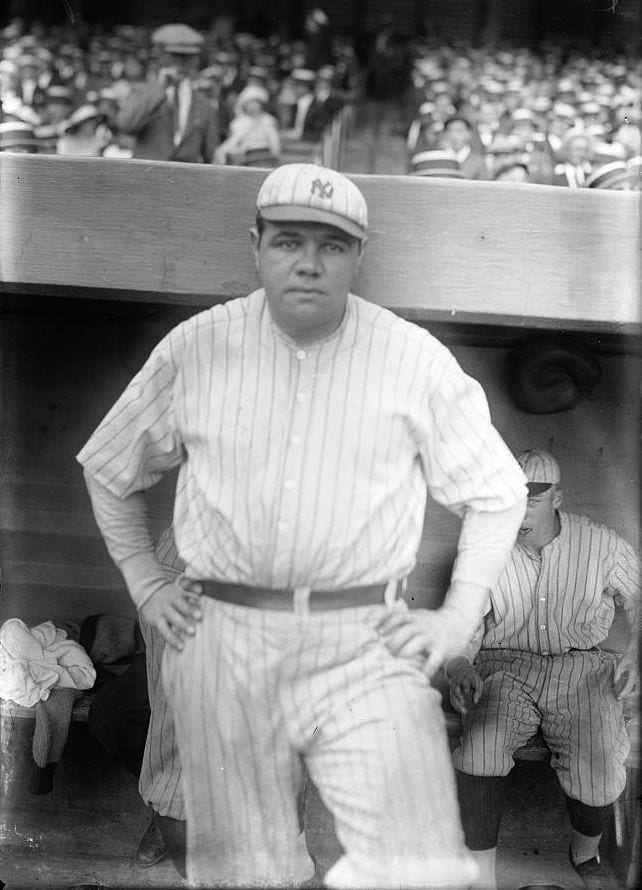 babe ruth fat athletes