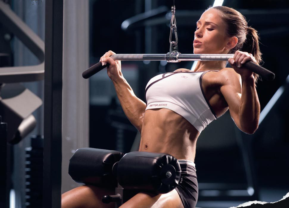 back exercises for women Lat Pulldowns