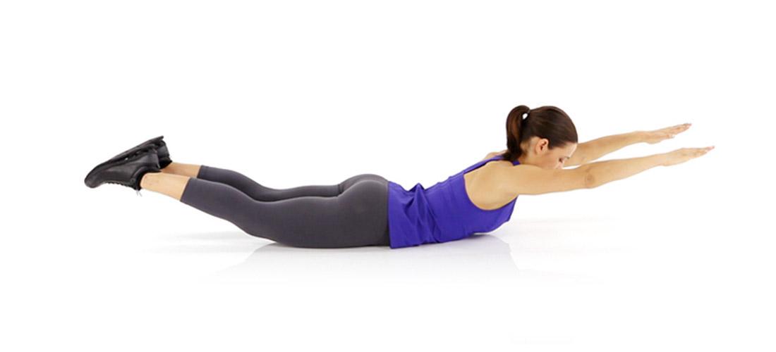 back exercises for women Superman
