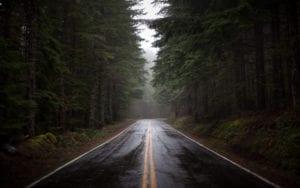 Car tires for rain - wet road