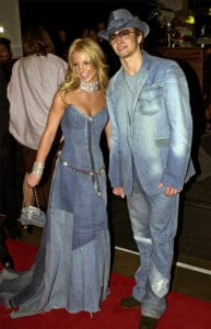 celebrity fashion fails britney justin