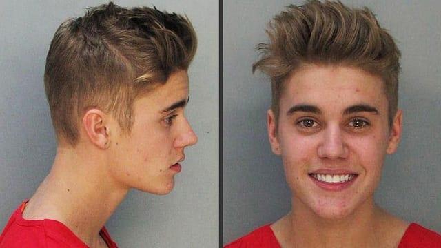 celebrity mug shots Justin Bieber