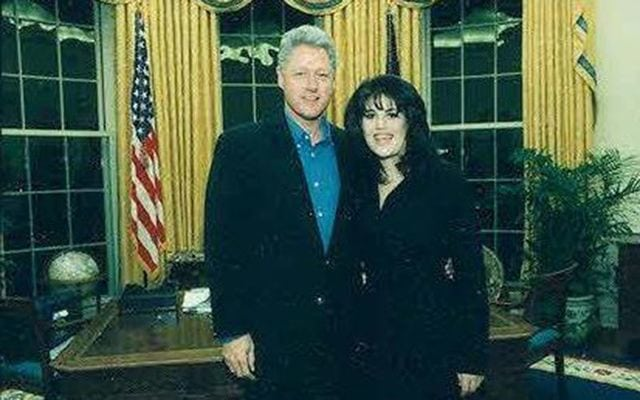 Monica Lewinsky and Bill Clinton celebrity scandals