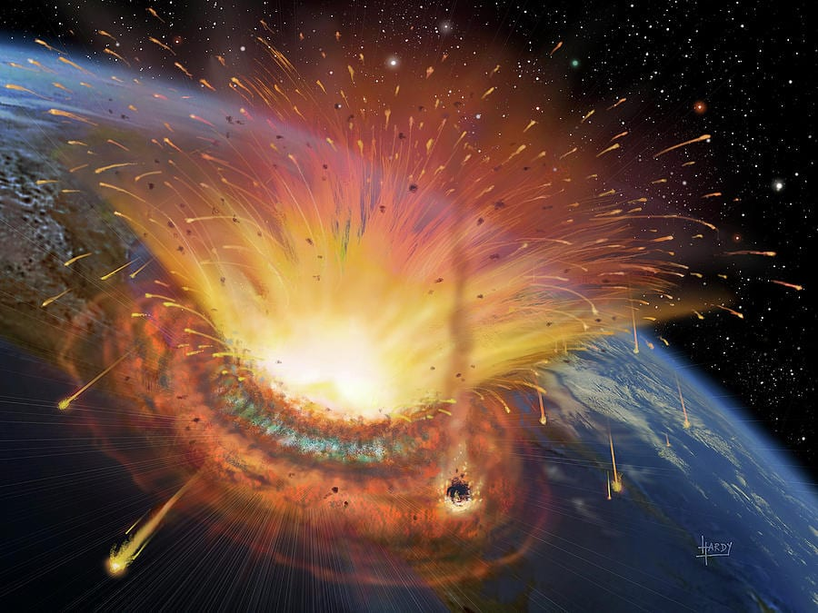 Asteroid entering earth - The Chicxulub impact event was one of history's biggest natural disasters with no casualities