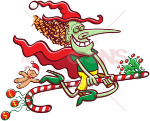 Belfana, the witch - In Italy, the Christmas tradition is that Belfana the witch brings the presents not Santa Claus