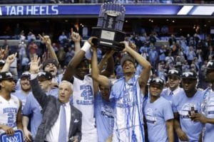 Tar hEELS Lifting the 2016 NCAA Championship in 2016. The Tar Heels of North Carolina have one of the best college basketball programs