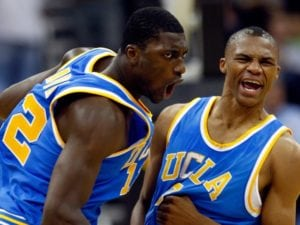 Russell Brook playing for UCLA during the college days - UCLA great college basketball programs has created other greats like Kareem Abdul-Jabbar