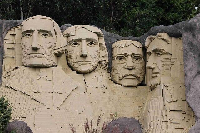 Legos Mount Rushmore