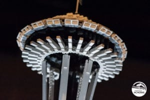 Seattle Space Needle made out of Legos