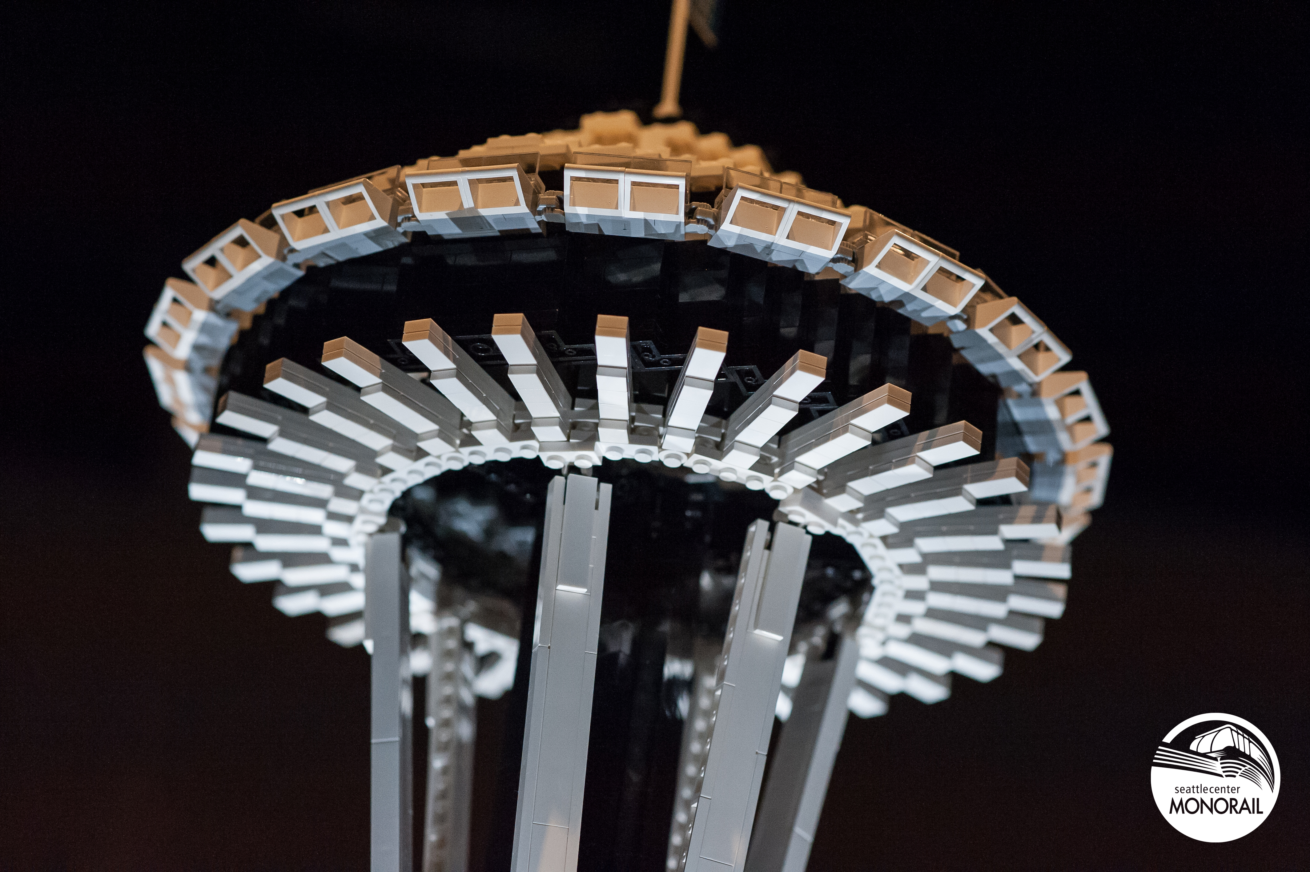 Seattle Space Needle made of Legos