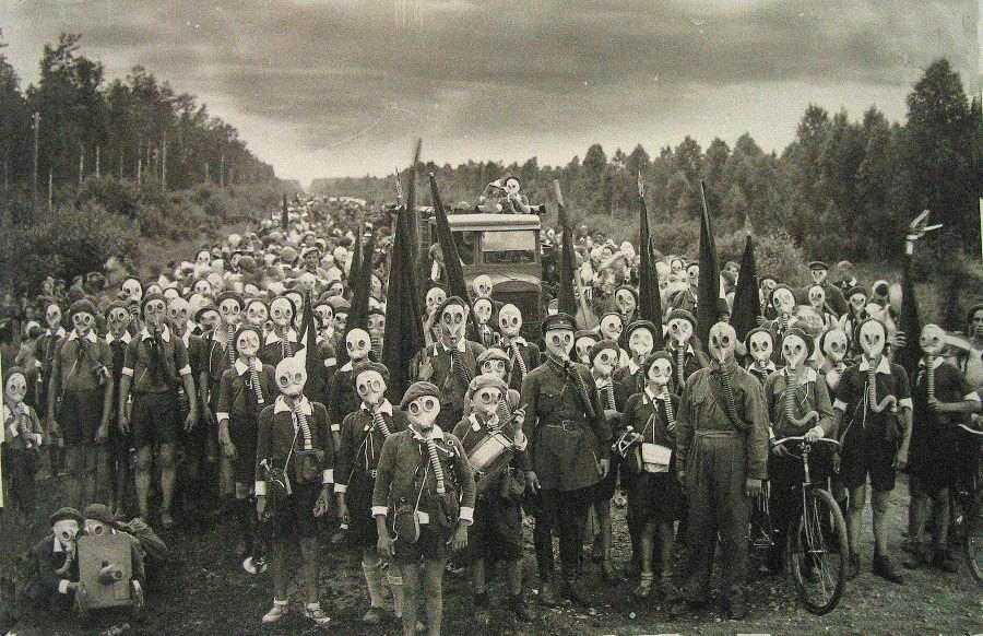 miyake jima gas mask japan