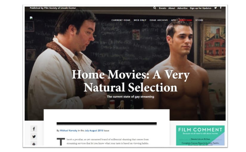 Film Comment is a popular movie review site known for in-depth and scholarly reviews
