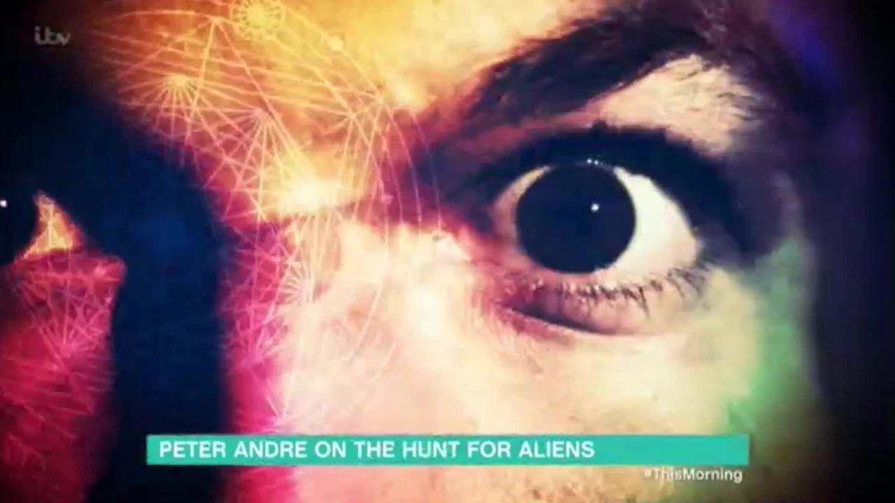 This UFO conspiracy was reported by Peter Andre