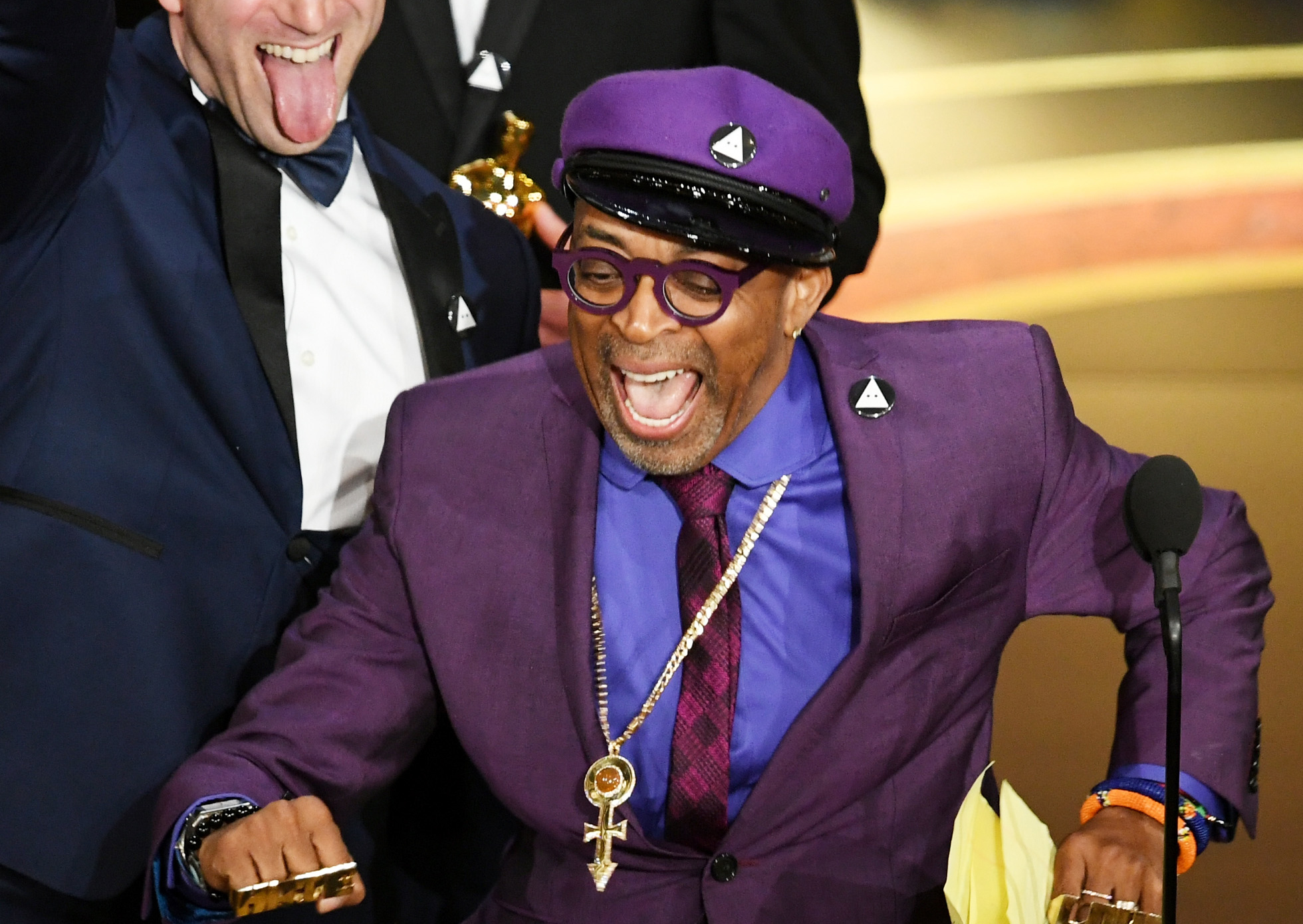 Spike Lee winning at the Oscars.