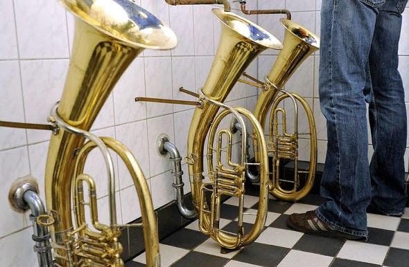 tuba urinals - toilet humor