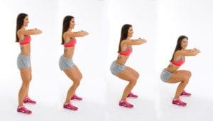 toned quads squats