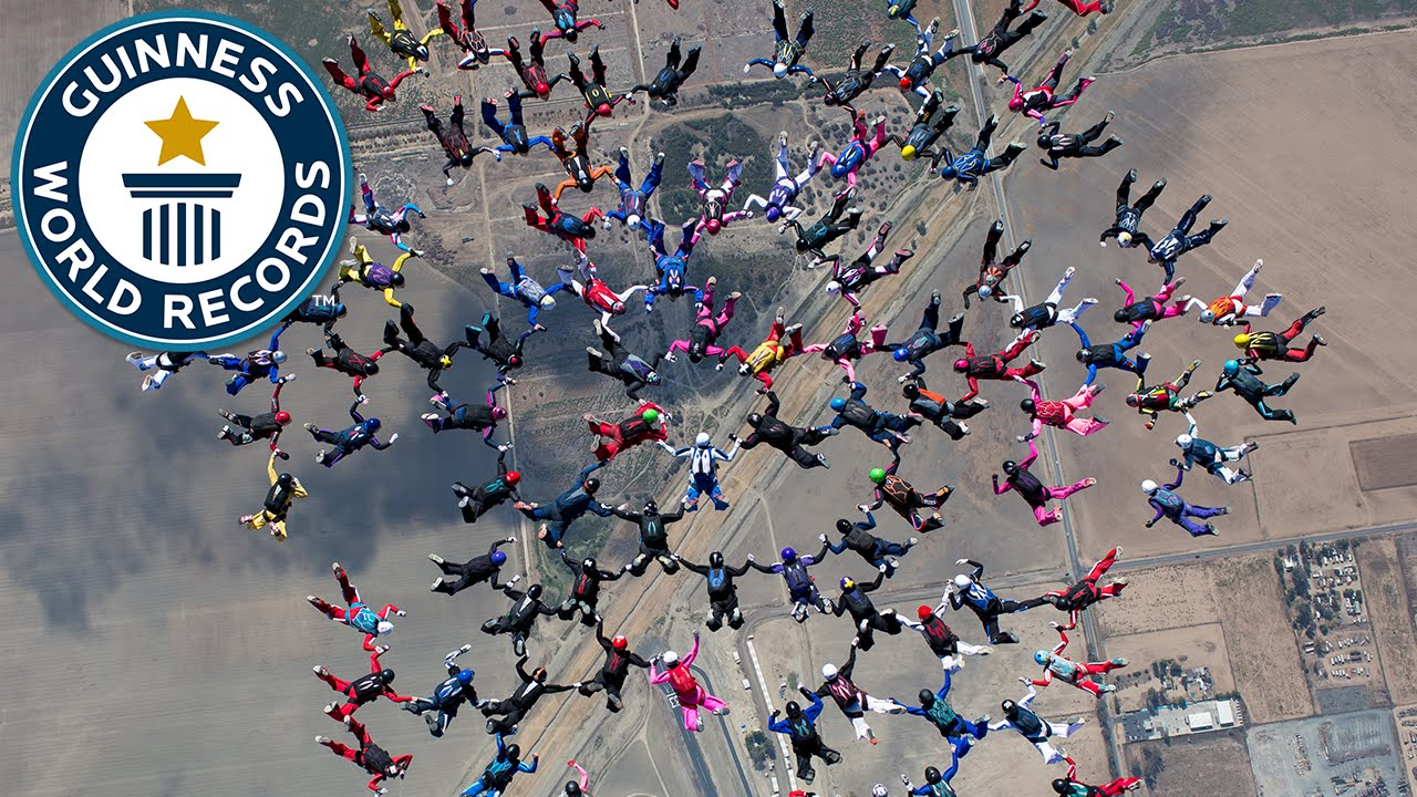 The world Largest freefall formation is one of the weirdest world record set