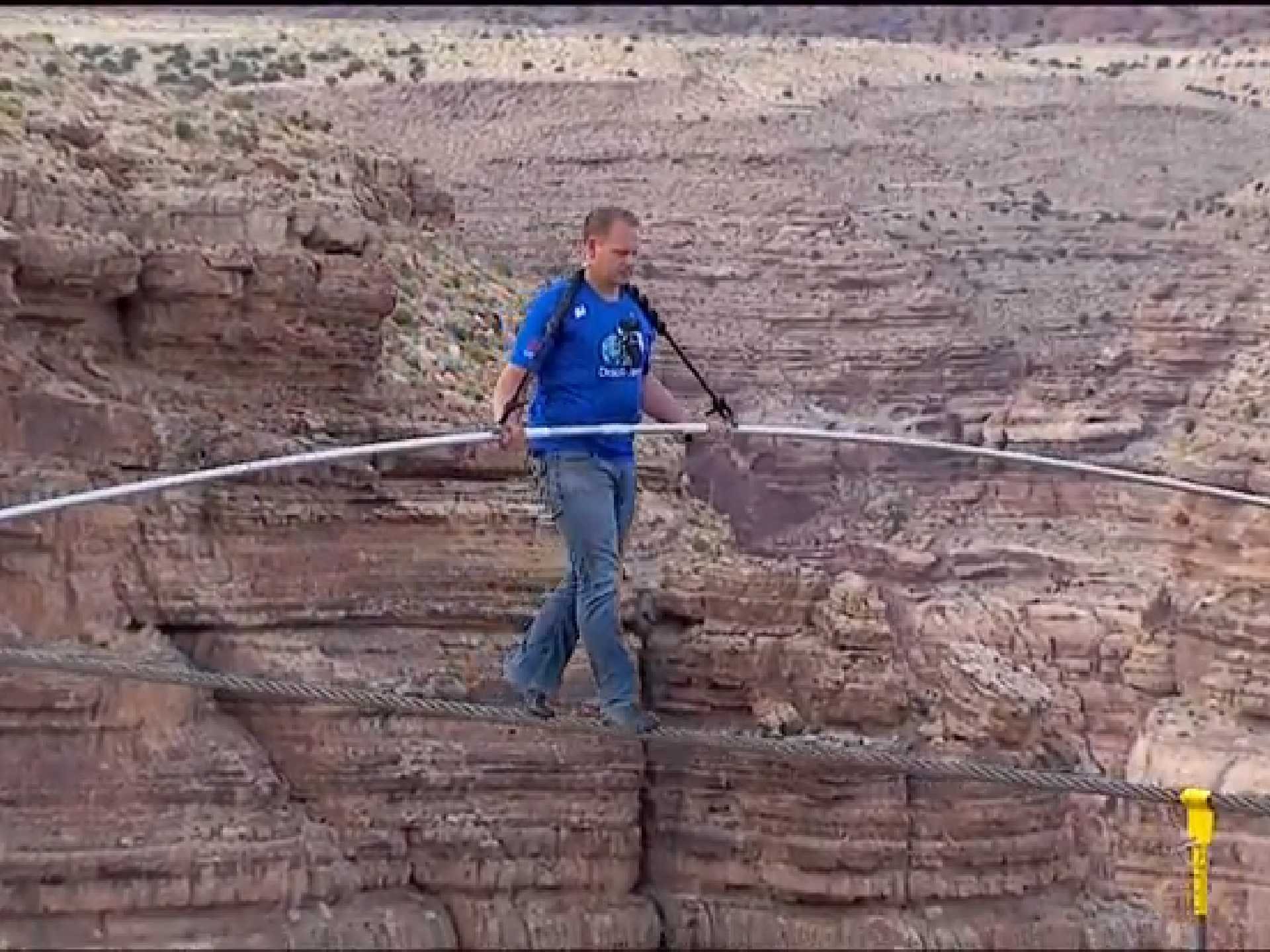 The world record for tight rope walking is held by nik wallenda