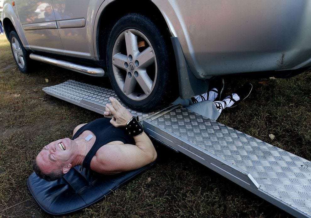 Getting run over is one of the weird world records