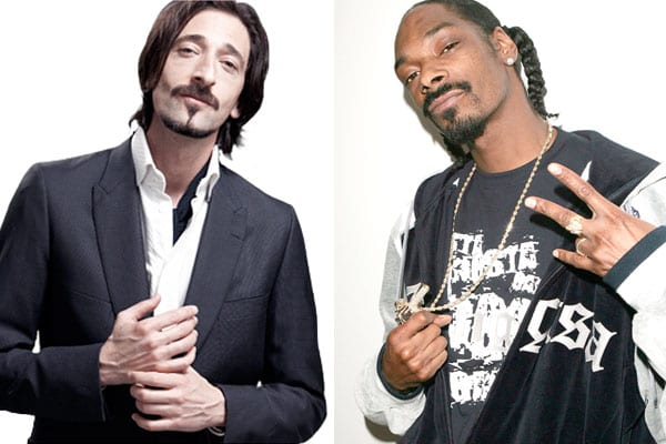 celebrity doppelganger adrien brody and snoop dogg