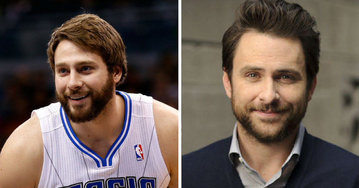 Josh McRoberts and Charlie Day - celebrity doppelganger