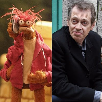 celebrity doppelganger - Steve Buscemi and Pepe the King Prawn