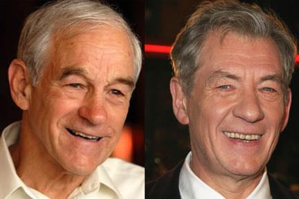 Ron Paul and Ian McKellen - celebrity doppelgangers