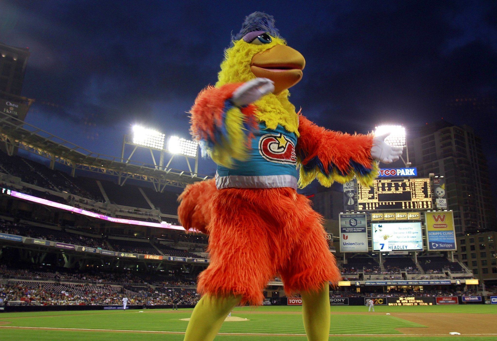 The San Diego is one of the most loved and entertaining mascots in sports