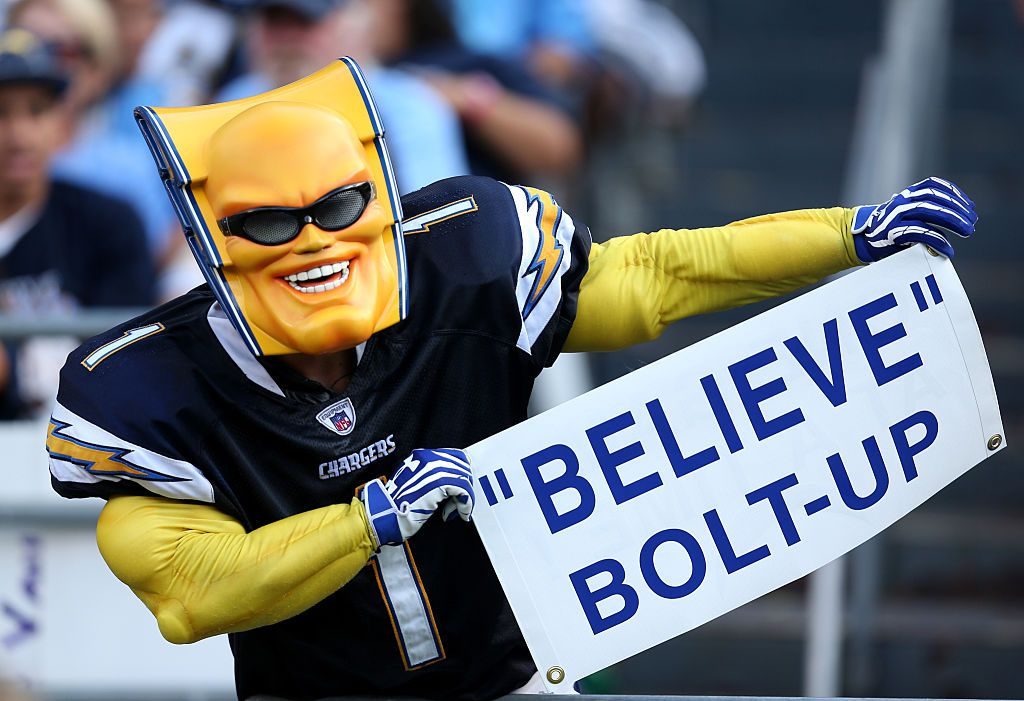 The Bolt man of San Diego Chargers is a mascot created by a fan and is considered one of the worst mascots in sports history