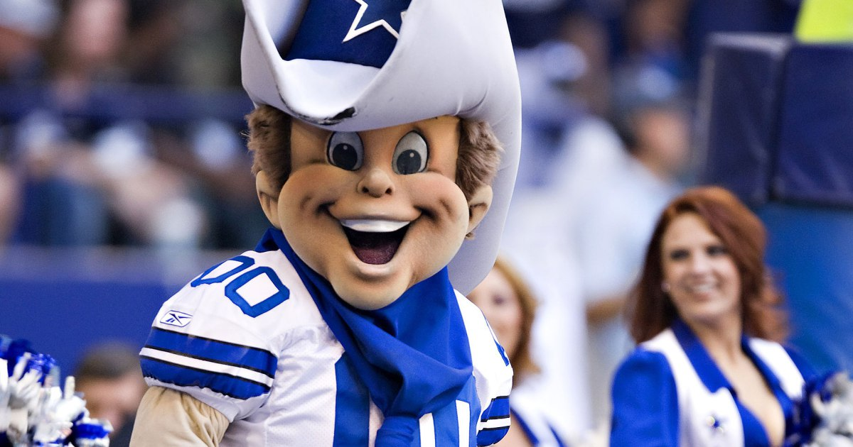 Rowdy, The Cowboy-looking mascot of the Dallas Cowboys is one of the most terrible mascots in sports