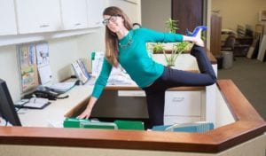 standing desk stretches