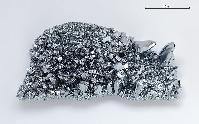 Osmium is one of the densest material in the world belonging in the platinum group