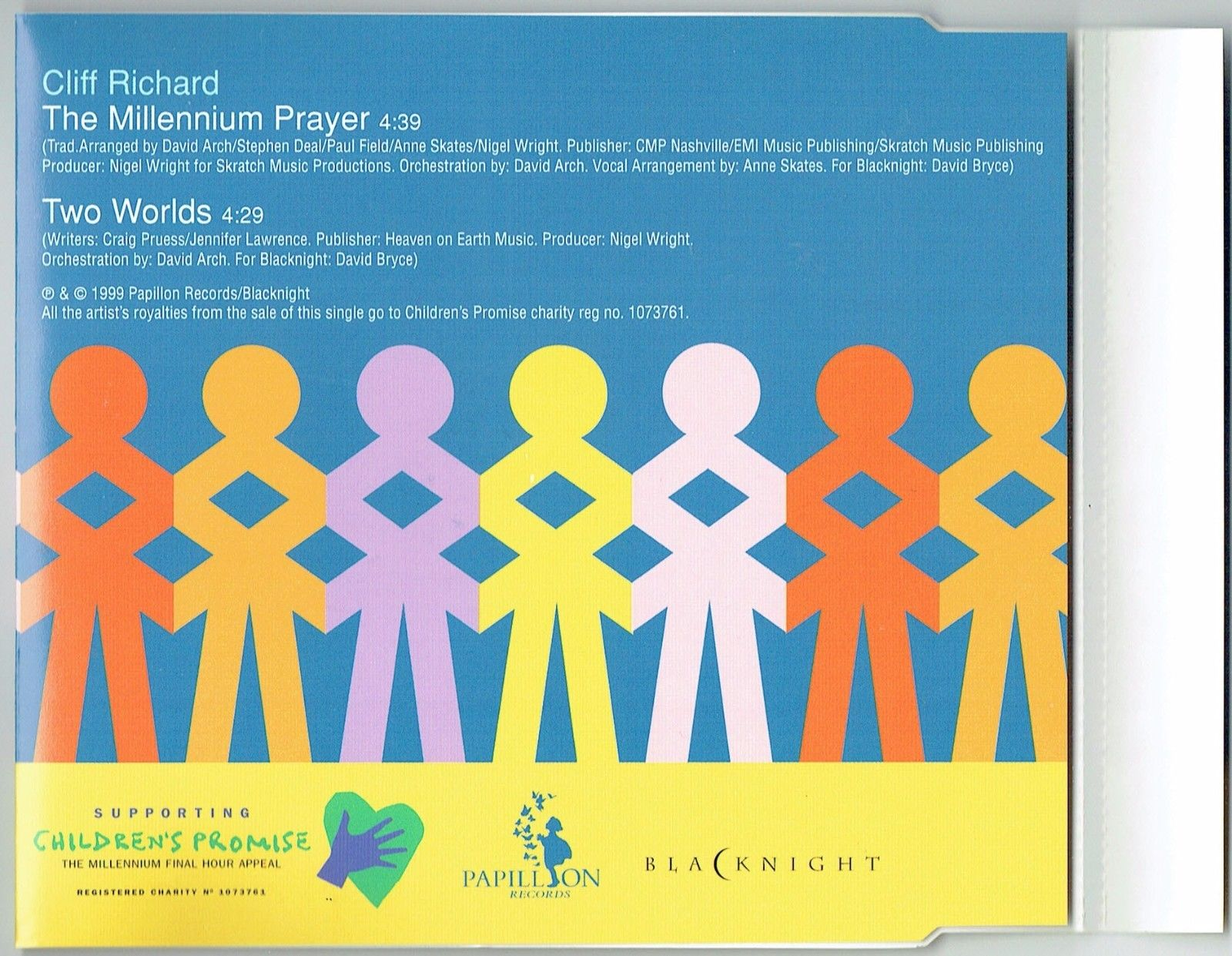 "A Millennium Prayer CD by Cliff Richard - one of the best Christmas carols of all time ""width ="" 1600 ""height ="" 1241"