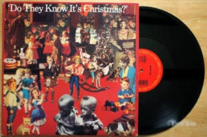A Vinyl of Do they know it's Christmas which is one of the best christmas songs of all time
