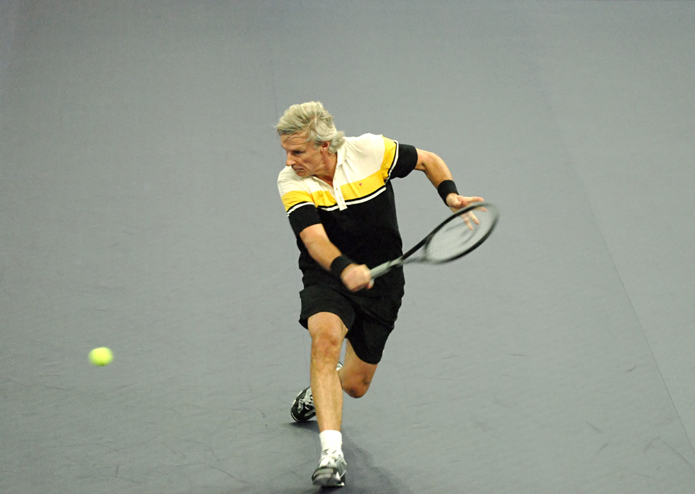 bjorn borg playing tennis