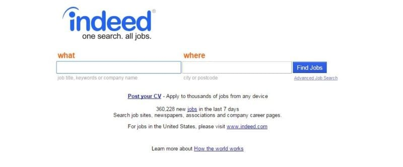 employment search engines indeed