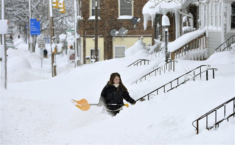erie snowiest cities