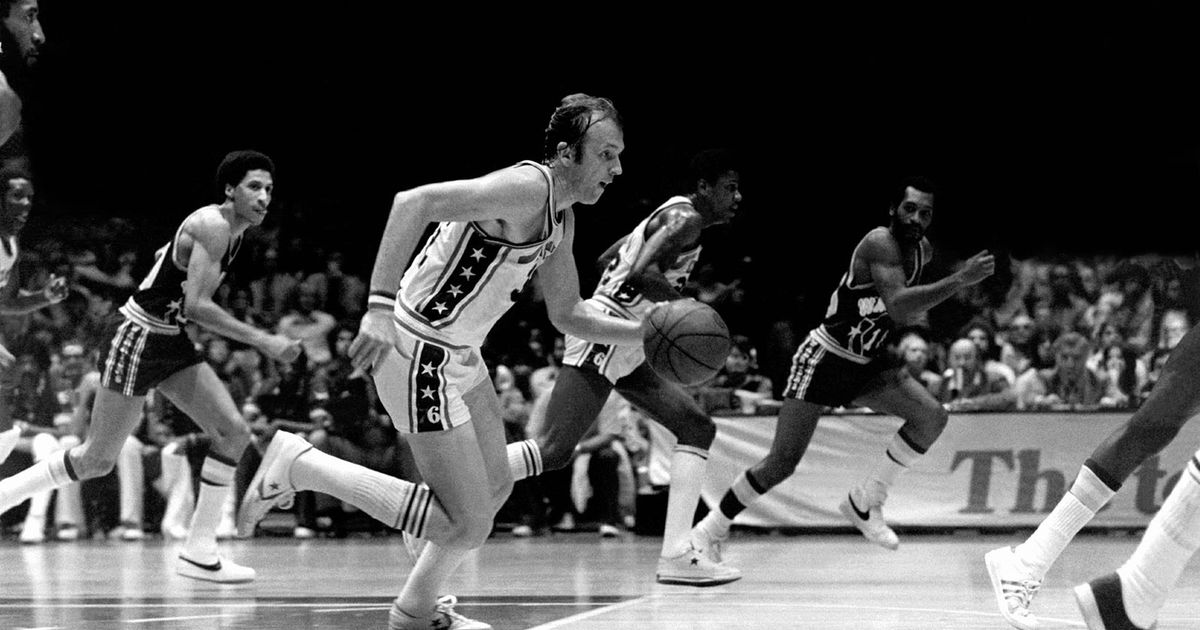 Billy Cunningham of the Philadelphia 76ers in one of the team's worst NBA seasons