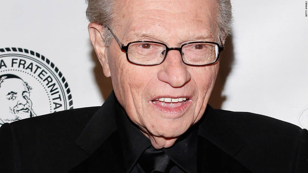 Larry King - He is one of the imfluential american talk show hosts