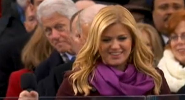 Billy Clinton photobombing Kelly Clarkson at a presidential inauguration in 2013 is one of the funniest celebrity photobombs