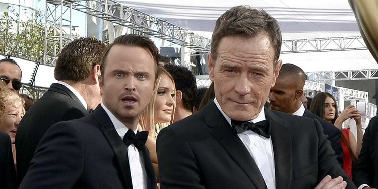 Aaron Paul Photobombs Co-star Byran Cranston at the Emmys. It is one of the most liked celebrity photobombs