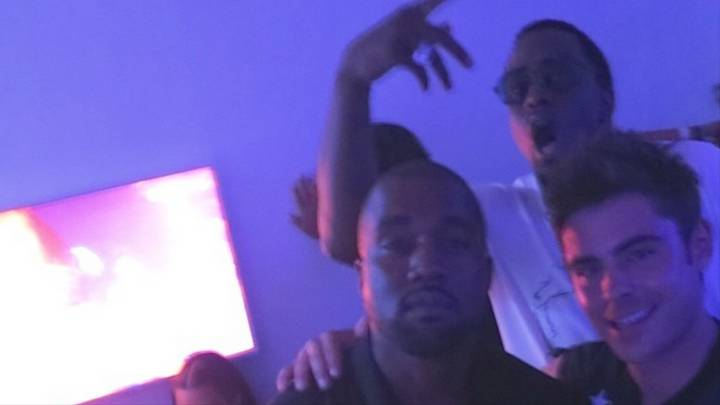 Diddy Photobombs Zac Effron and Kanye West in what could be regarded as one of the most powerful photobombs in 2014