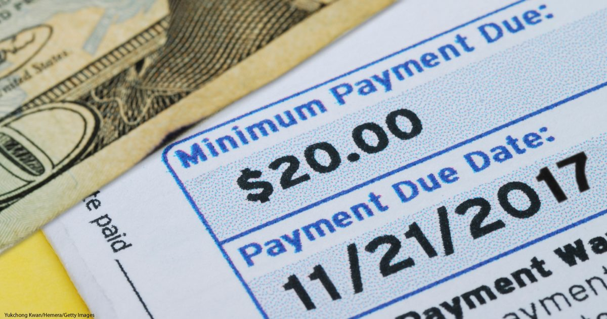 Minimum payments can hurt your credit score