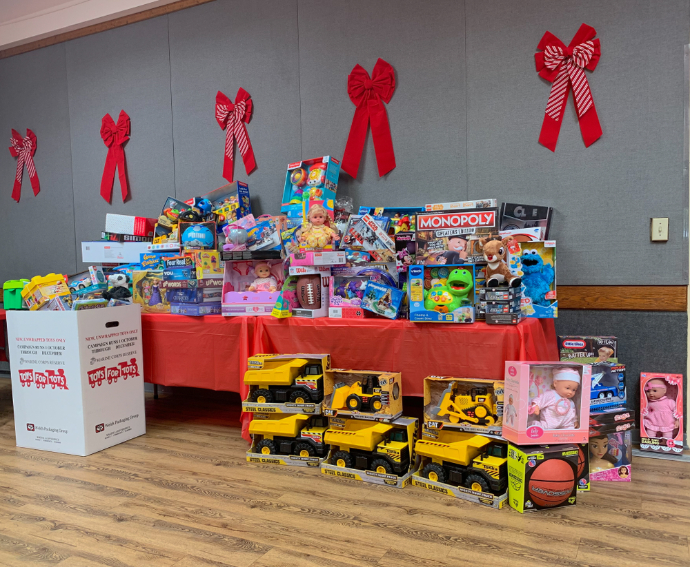Toys Collected for U.S Marine Corps Reserve Toys for Tots Campaign
