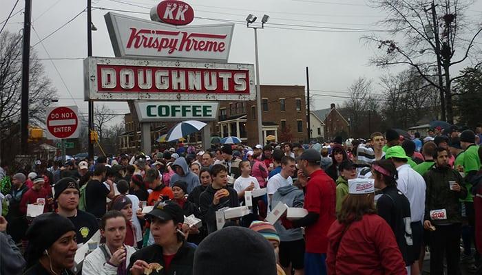 weird 5k runs - Krispy Kreme Challenge