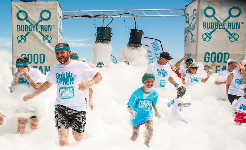 weird 5k runs - Bubble Run