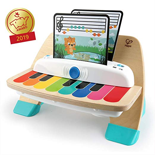 best toys for a one-year-old wooden musical toy piano